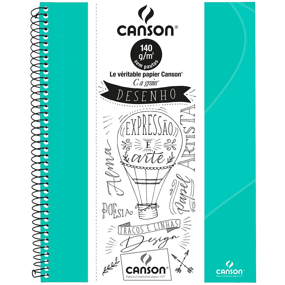 Caderno Para Desenho Canson A4 - Verde