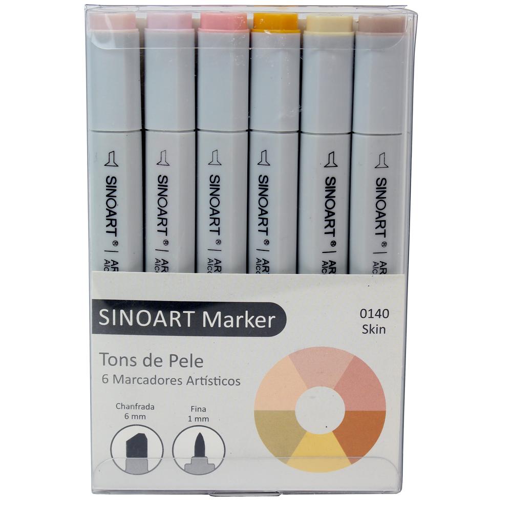Marcador Artístico Sinoart Marker 06 Tons de Pele