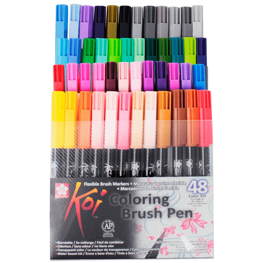 Caneta Brush Pen Sakura 48 Cores