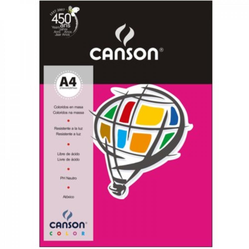 Papel Colorido Canson 180g/m² A4 11 Rosa Escuro