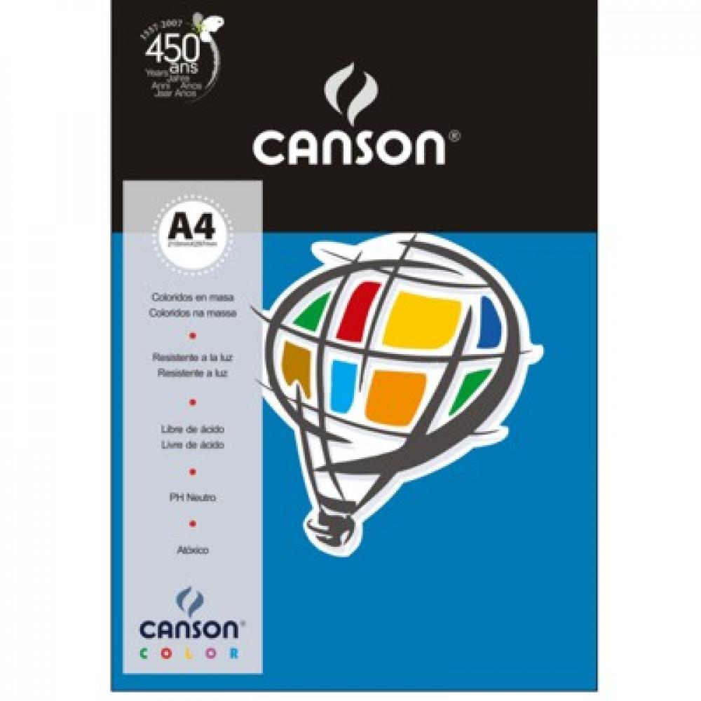 Papel Colorido Canson 180g/m² A4 15 Azul Royal