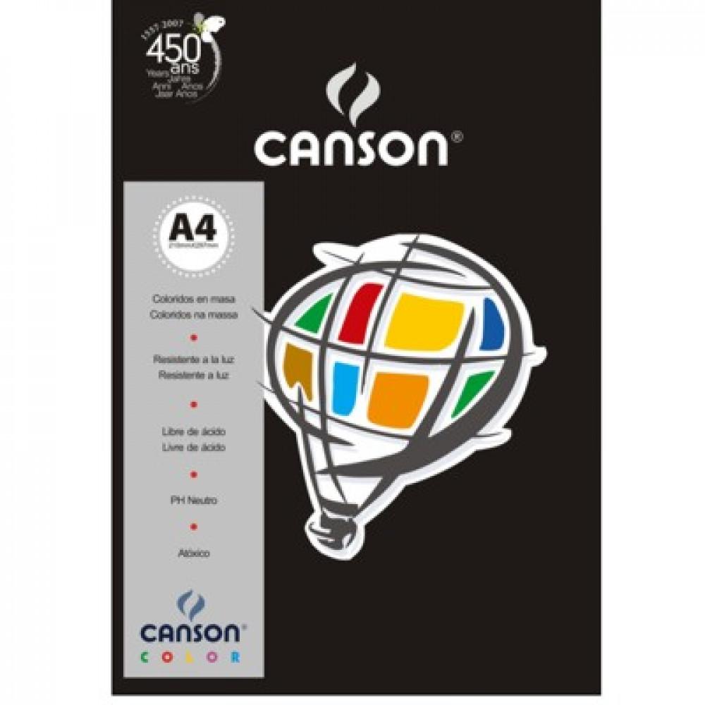 Papel Colorido Canson 180g/m² A4 26 Preto