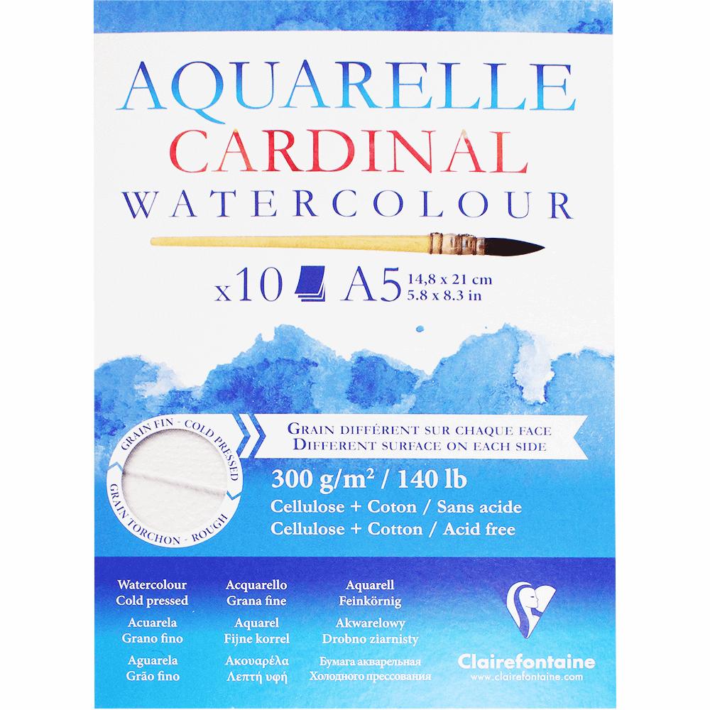 Papel Aquarela Clairefonatine Cardinal A5 300g/m²