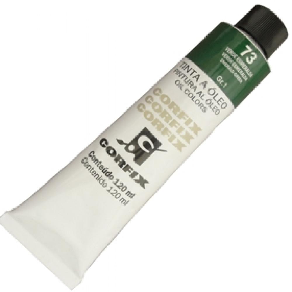 Tinta a Óleo Corfix 120ml 073 Verde Esmeralda G1