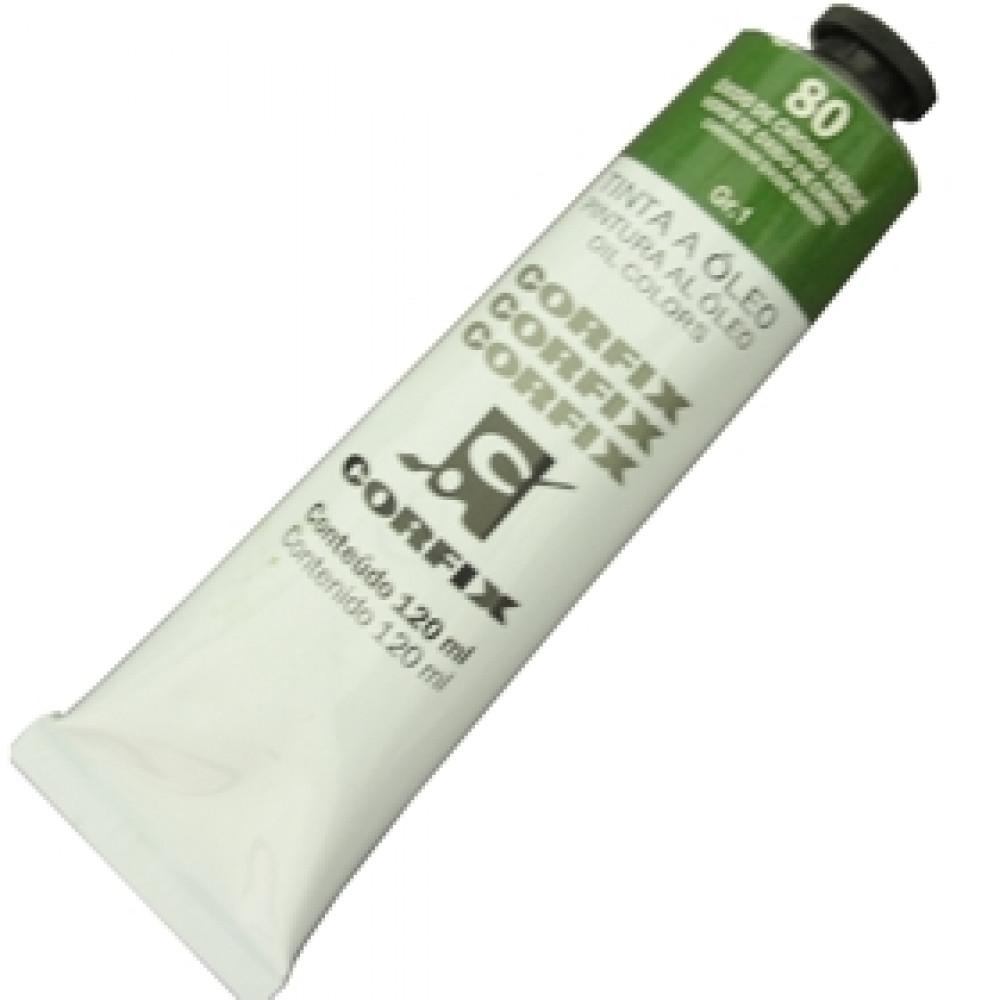 Tinta a Óleo Corfix 120ml 080 Óxido Cromo Verde G1