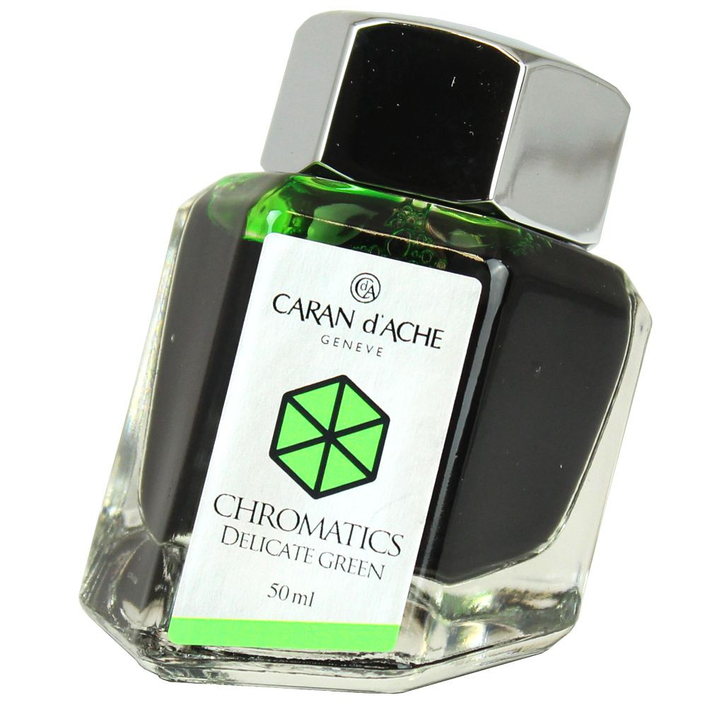 Tinta Para Caneta Tinteiro Caran d'Ache Chromatics Delicate Green 50ml