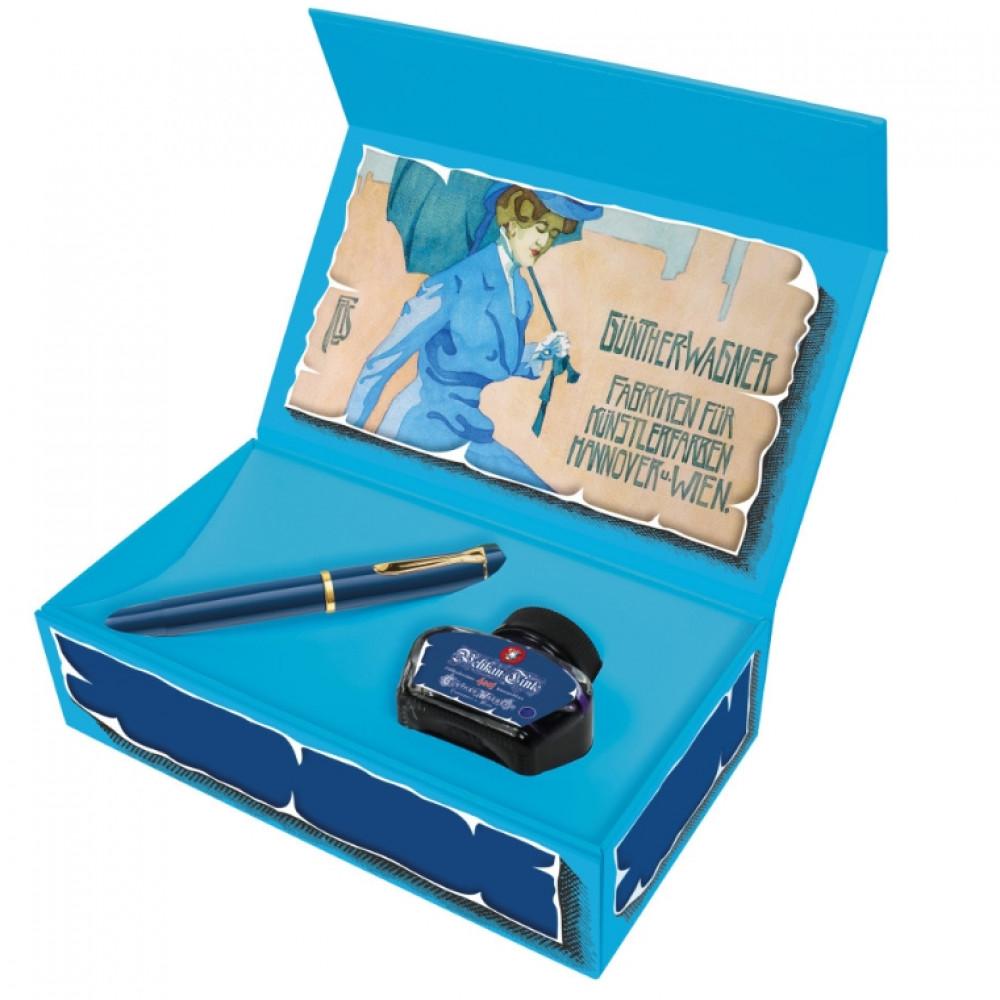Caneta Tinteiro Pelikan M120 Iconic Blue Pena M