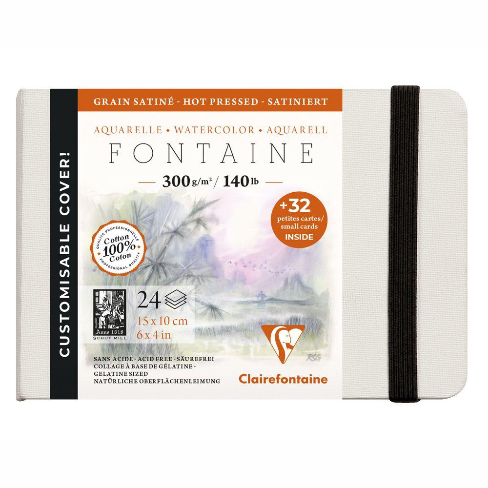 Bloco Papel Aquarela Fontaine 100% Algodão 10x15 Ed Customizada