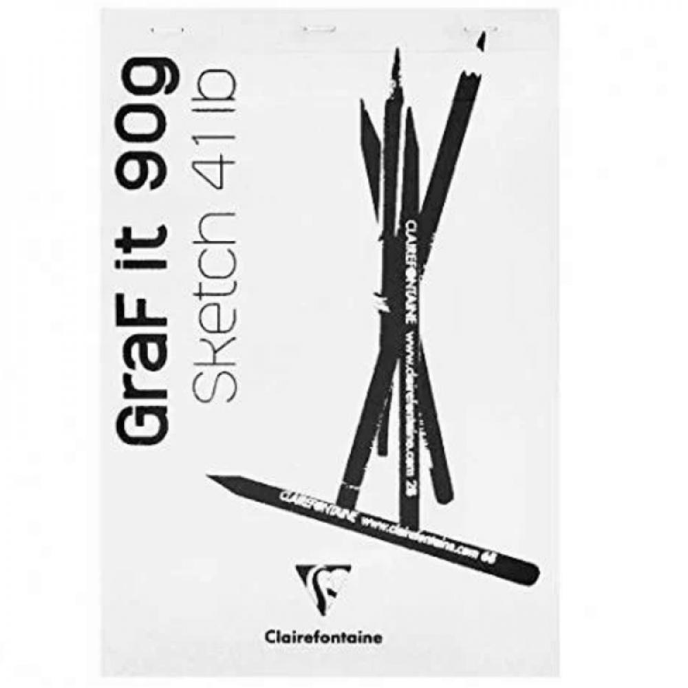 Bloco de Desenho Clairefontaine Graf It 90g/m² A5
