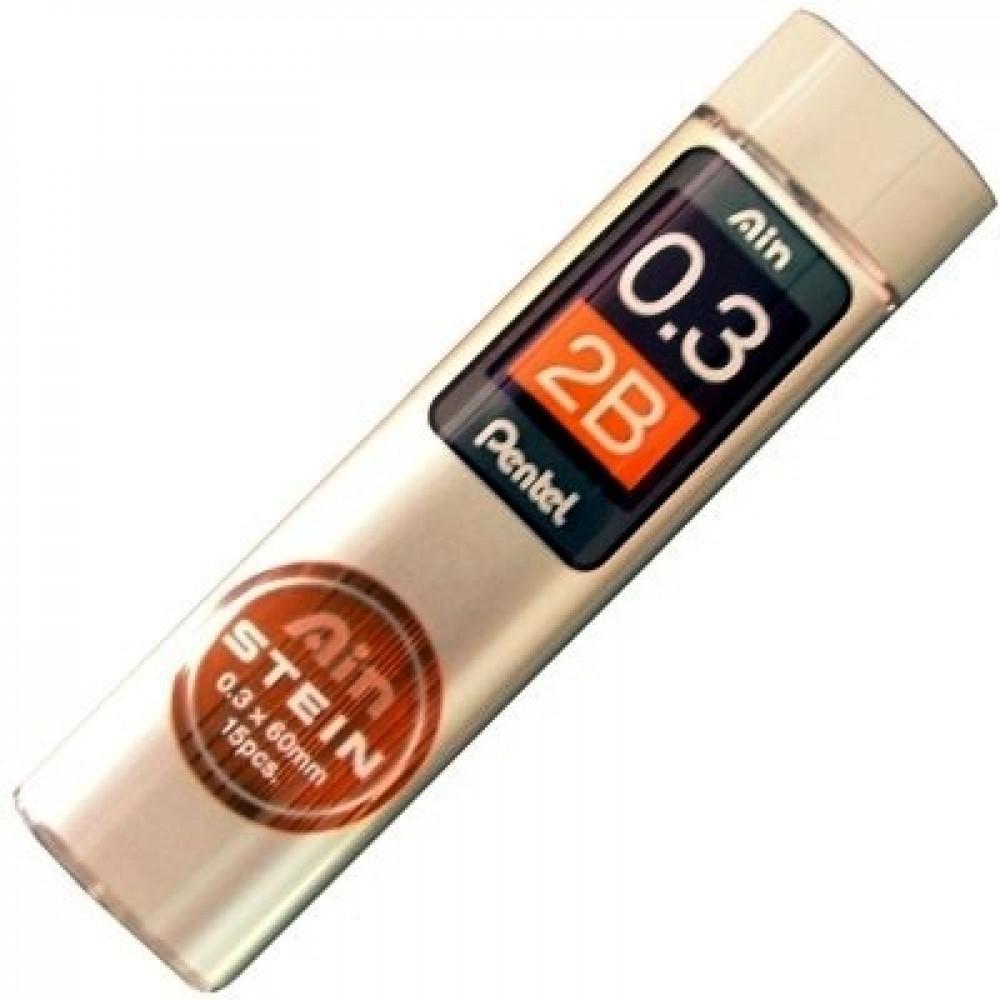 Grafite Pentel AIN STEIN 0.3mm 2B