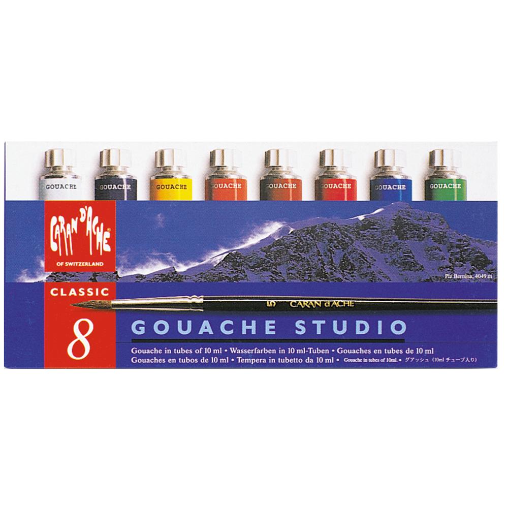 Tinta Gouache CARAN d'ACHE Studio 8 Cores Tubos