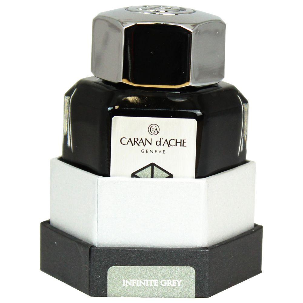 Tinta Para Caneta Tinteiro Caran d'Ache Chromatics  Infinite Grey 50ml