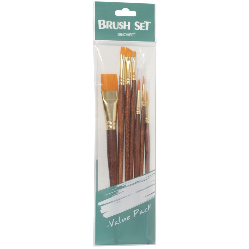 Set de Pincel Artístico Sinoart SFB0275 07 Unidades
