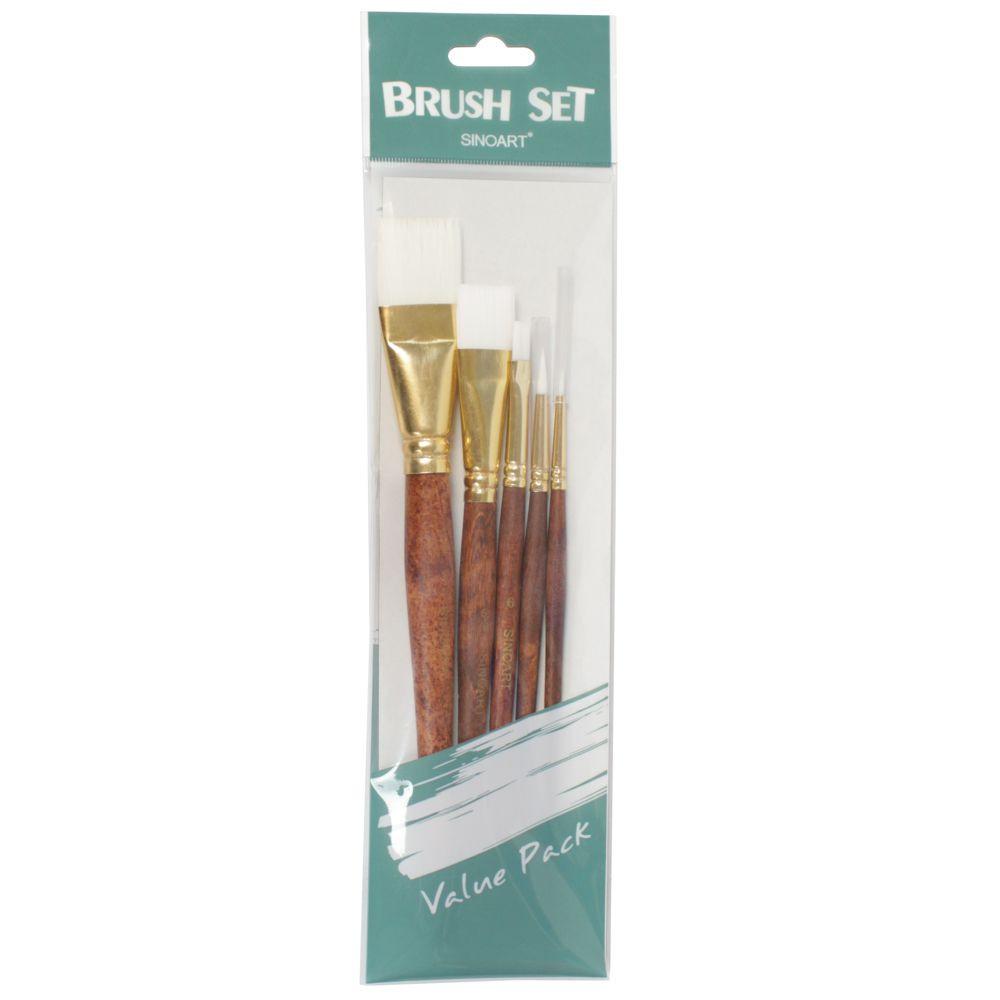 Set de Pincel Artístico Sinoart SFB0278 05 Unidades