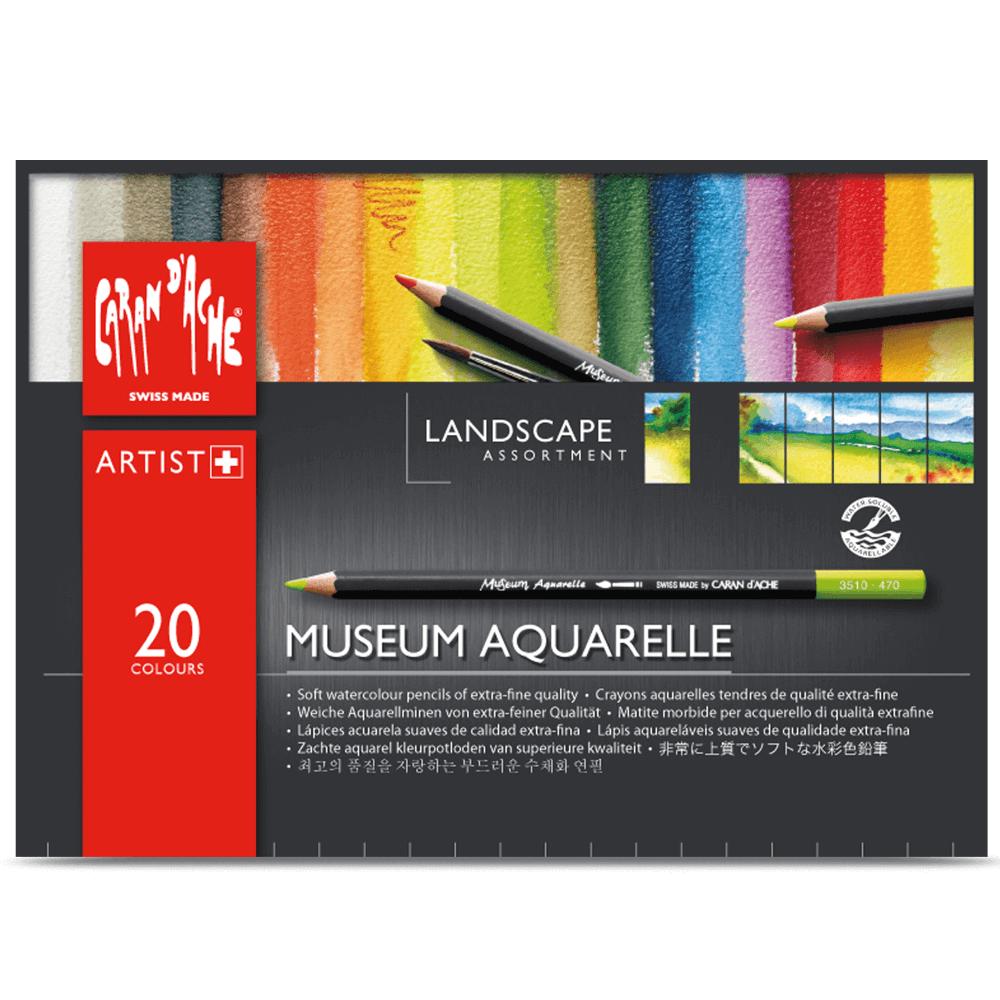 Lápis Aquarelável Museum 20 Cores Paisagem Caran D'Ache