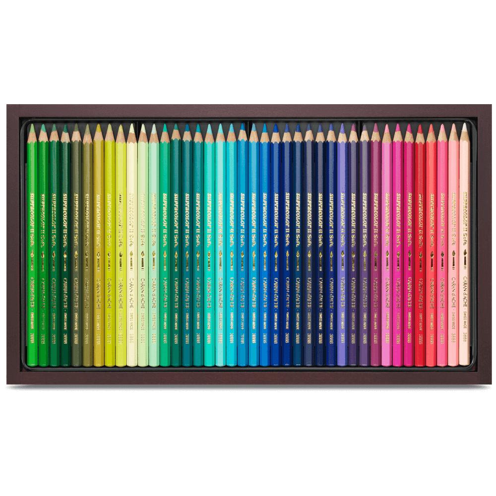 Lápis Aquarelável Supracolor Caran d'Ache 80 Cores Estojo Madeira