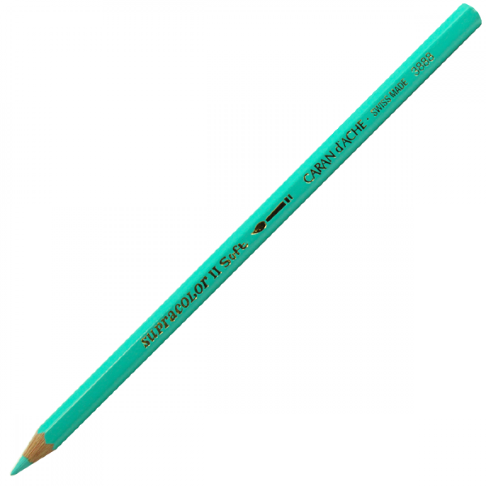 Lápis Aquarelável Caran d'Ache Supracolor Soft 191 Turquoise Green