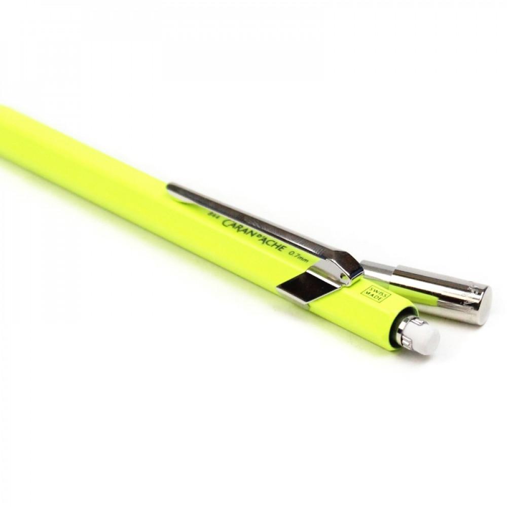 Lapiseira Caran D'Ache 0.7mm Amarelo Fluorescente