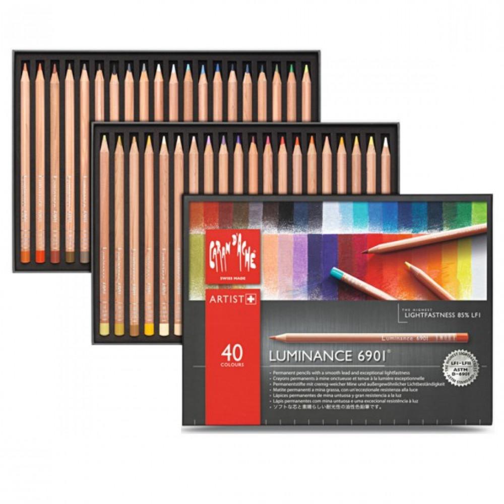 Lápis Luminance CARAN d'ACHE 40 Cores