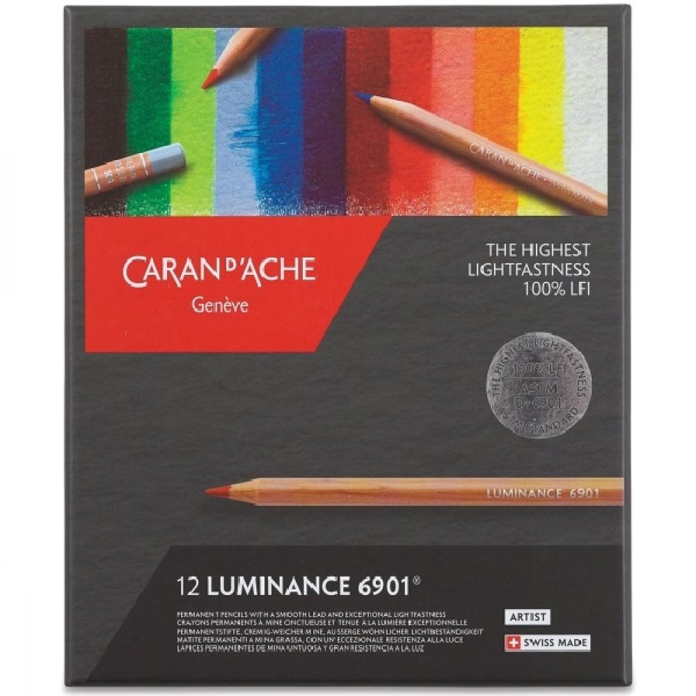 Lápis Luminance CARAN d'ACHE 12 Cores