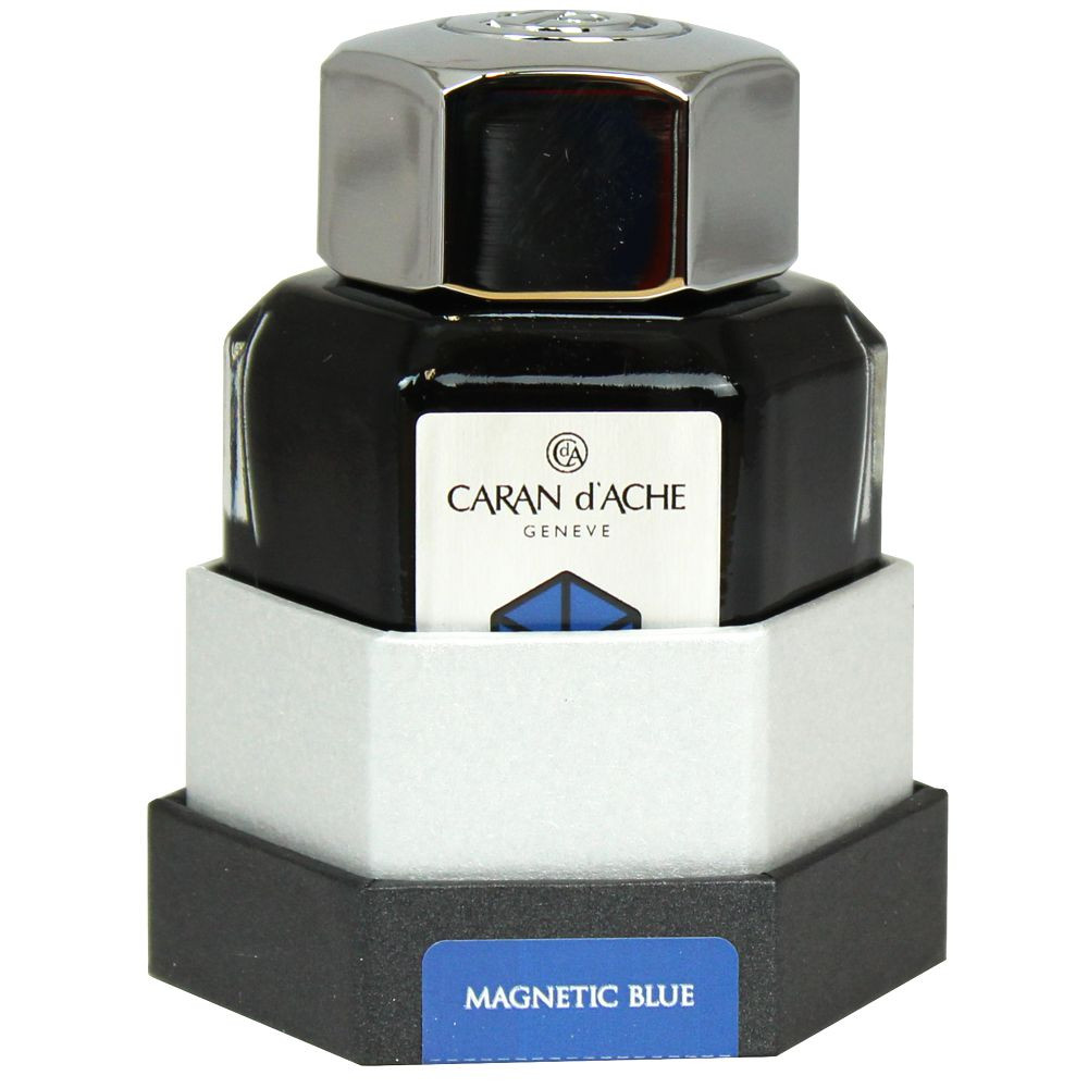 Tinta Para Caneta Tinteiro Caran d'Ache Chromatics Magnetic Blue 50ml