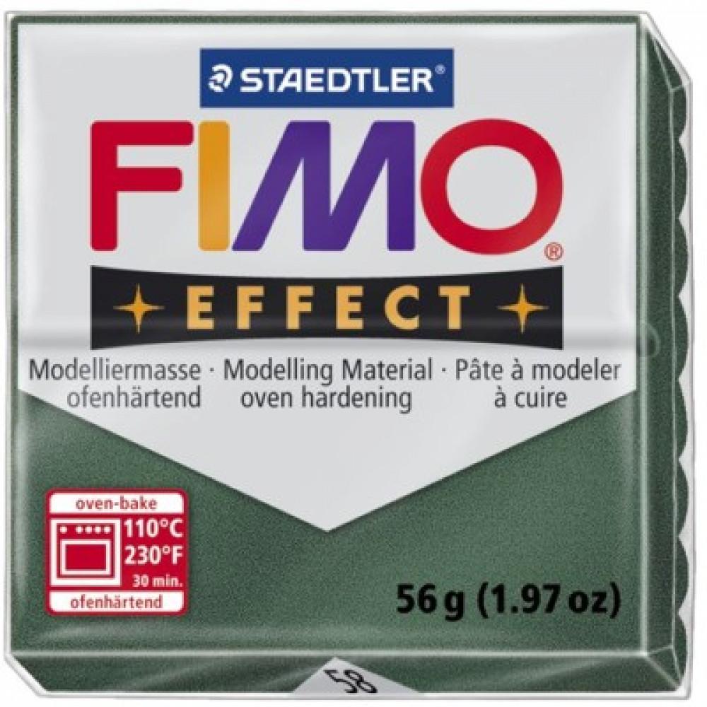 Massa Fimo Effect 58 Verde Metálico Escuro