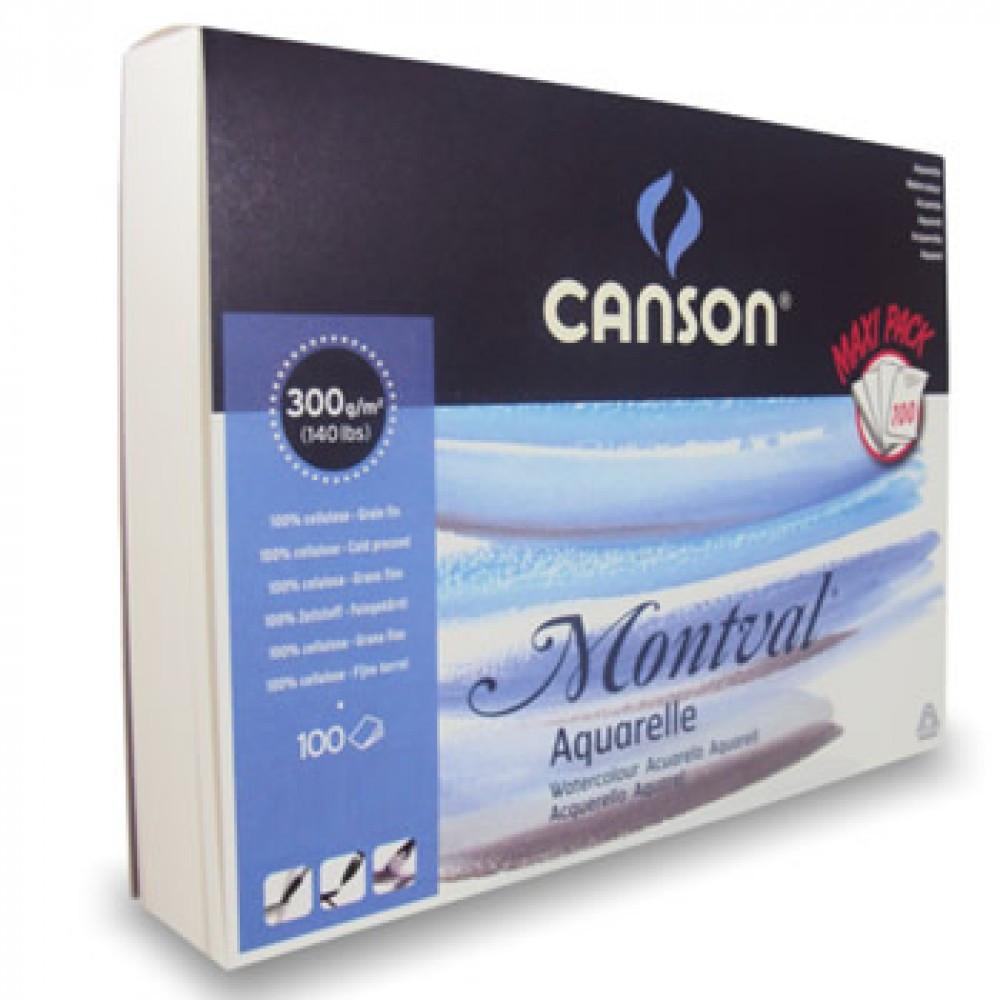Bloco de Papel para Aquarela Canson Montval Max Pack 300g/m² A3