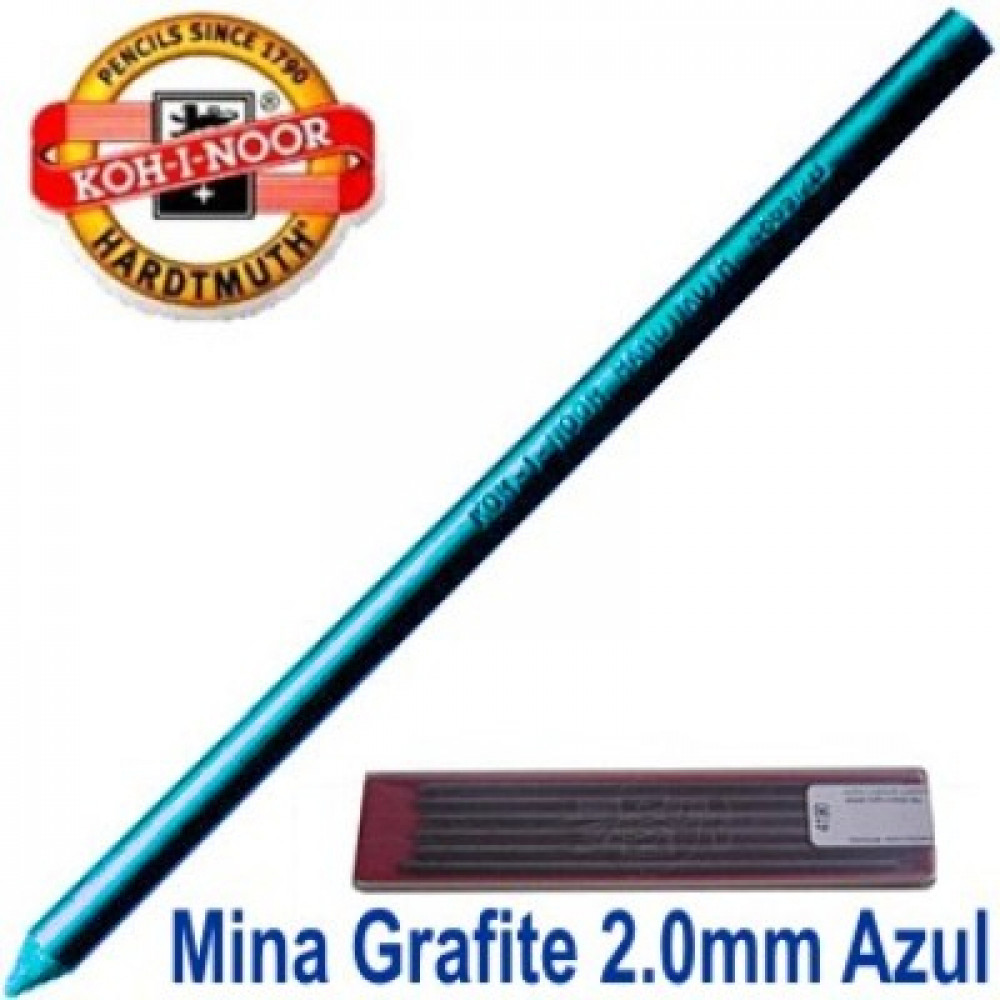Grafite Koh-I-Noor Colorido 2.0mm Azul