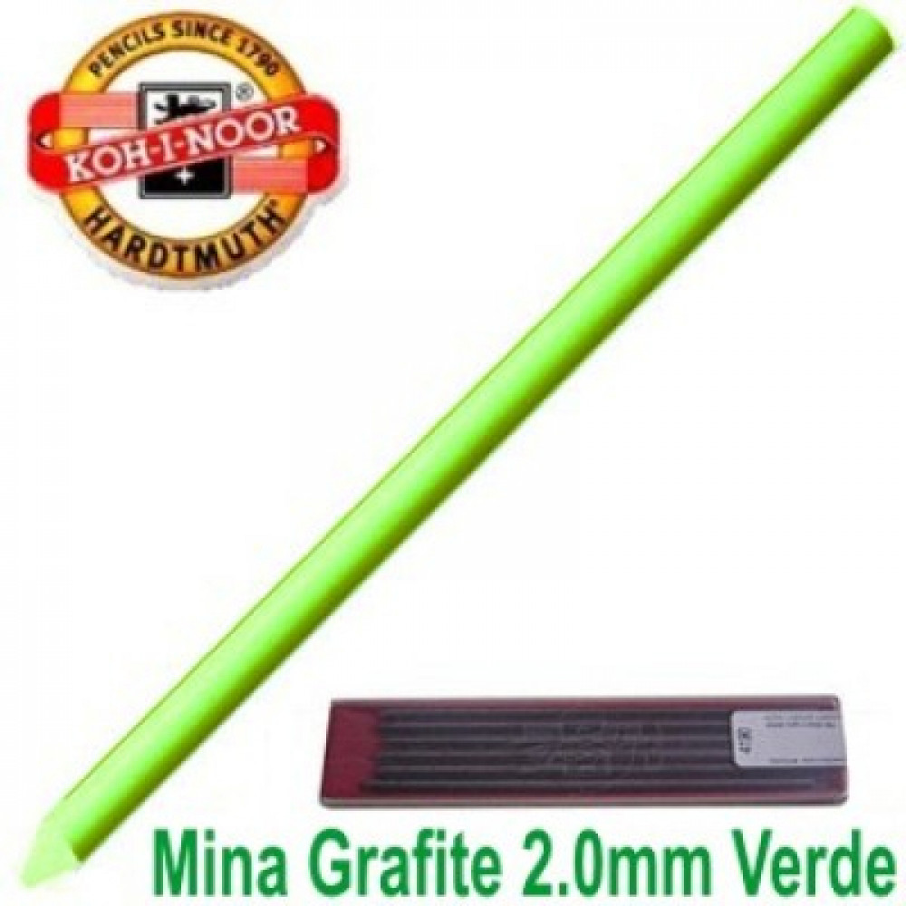 Grafite Koh-I-Noor Colorido 2.0mm Verde