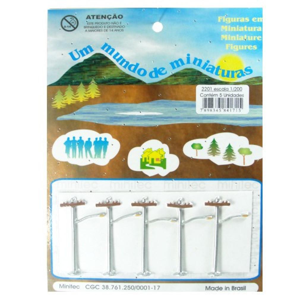 Miniatura de Poste 1/200 Minitec - 05 Peças 2201