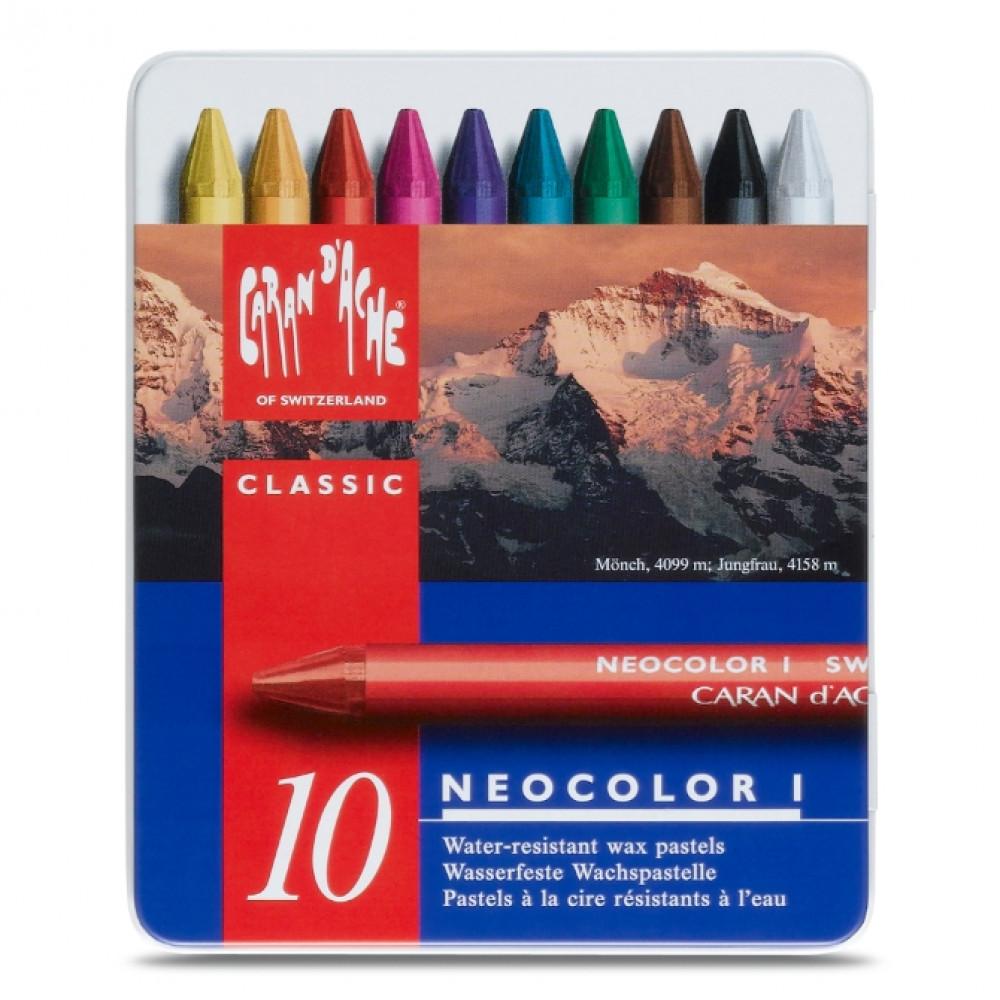 Pastel Neocolor I 10 Cores Caran D'Ache
