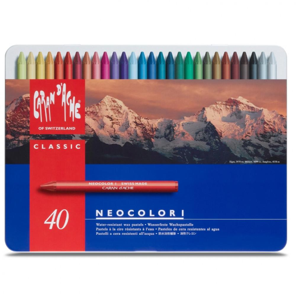 Pastel Neocolor I 40 Cores Caran D'Ache