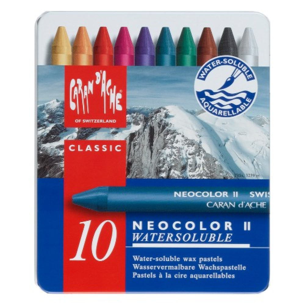 Estojo Giz Aquarelável Caran d' Ache Neocolor II 10 Cores