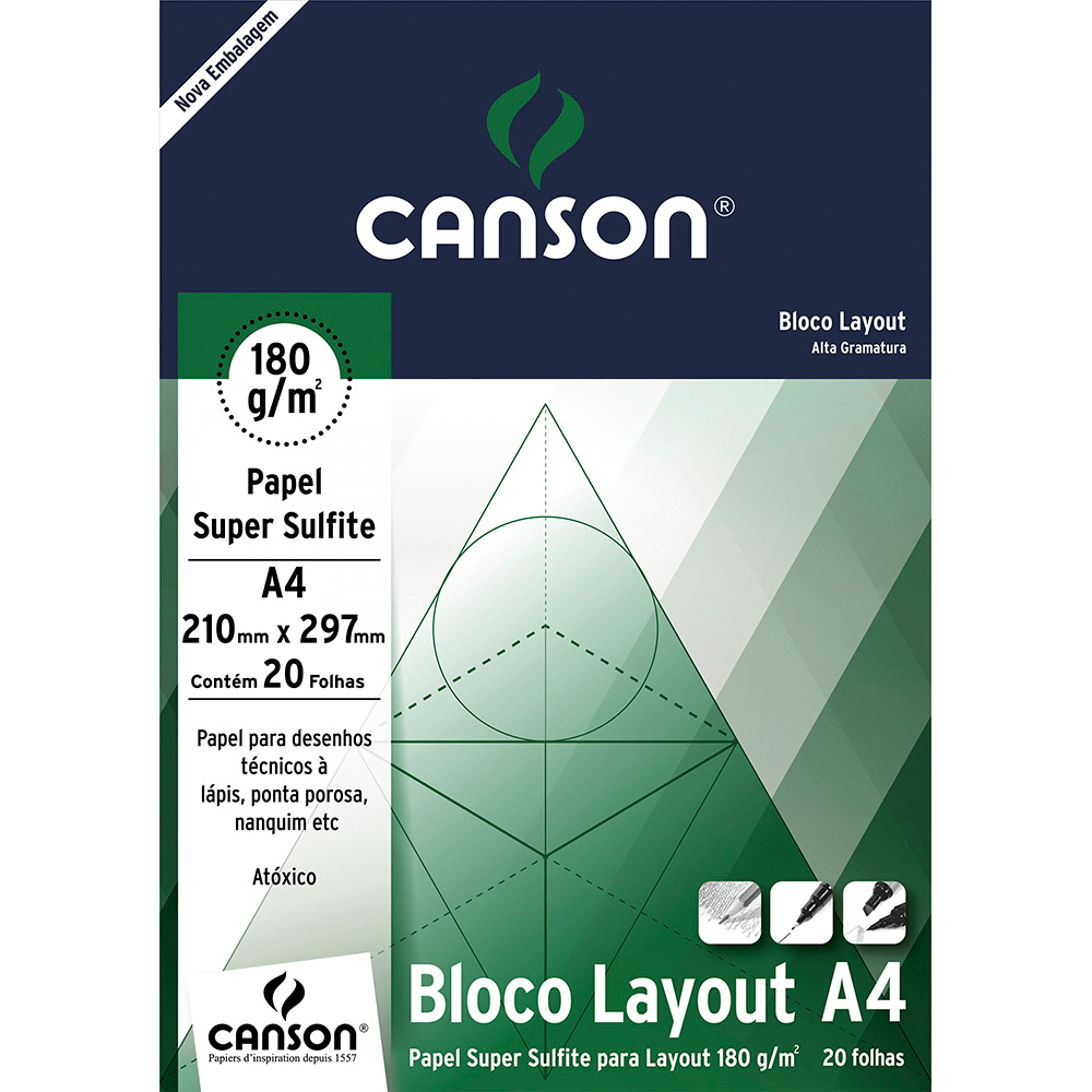 Bloco Layout Canson 180g/m² A4