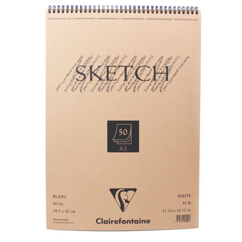 Caderno Sketchbook A3 50 Folhas Clairefontaine