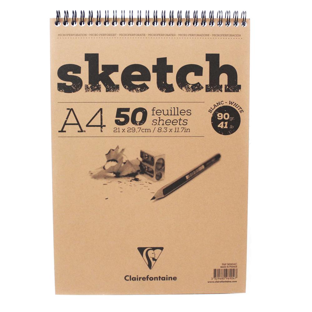 Caderno Sketchbook A4 50 Folhas Clairefontaine