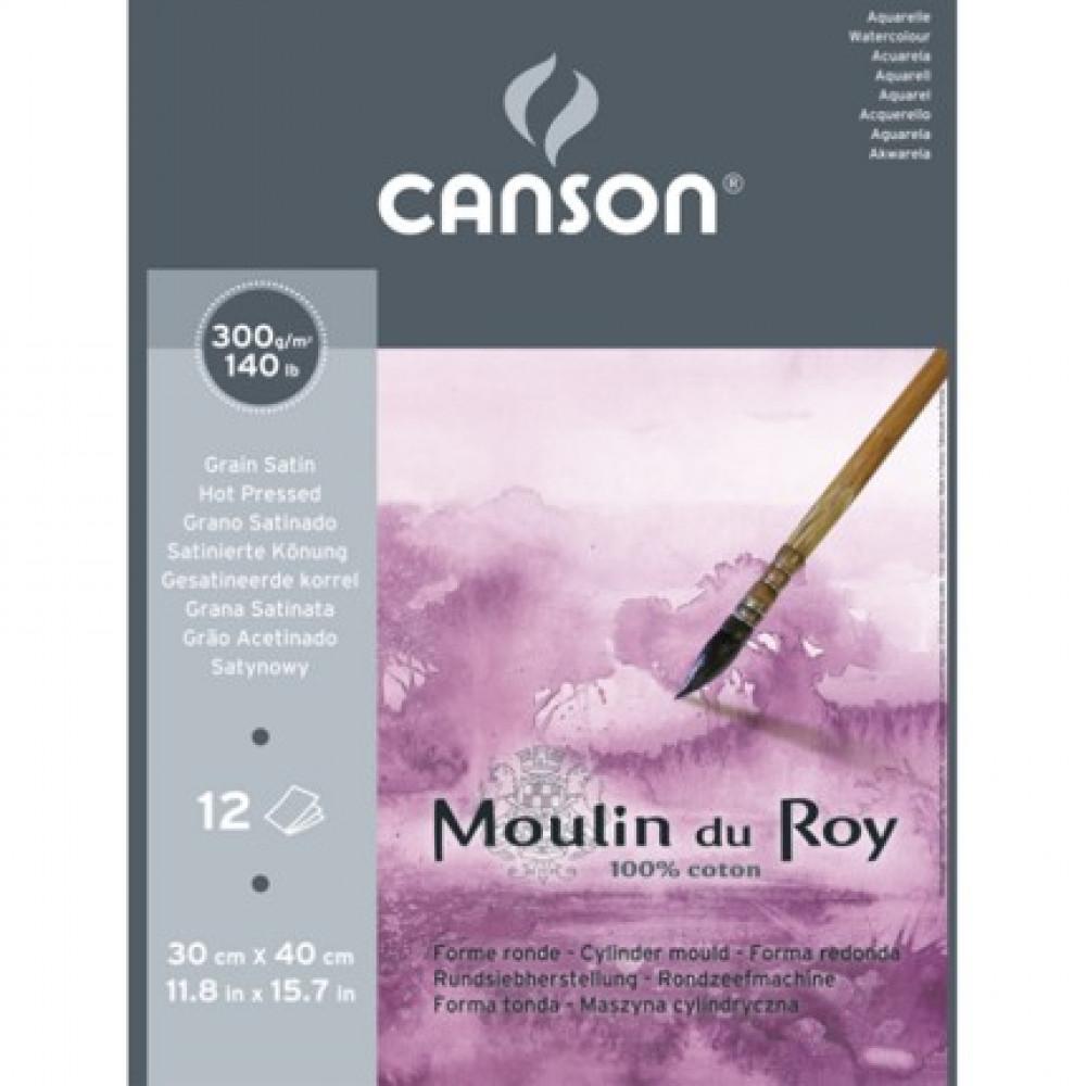 Papel de Aquarela Moulin du Roy 30x40cm Grain Satin