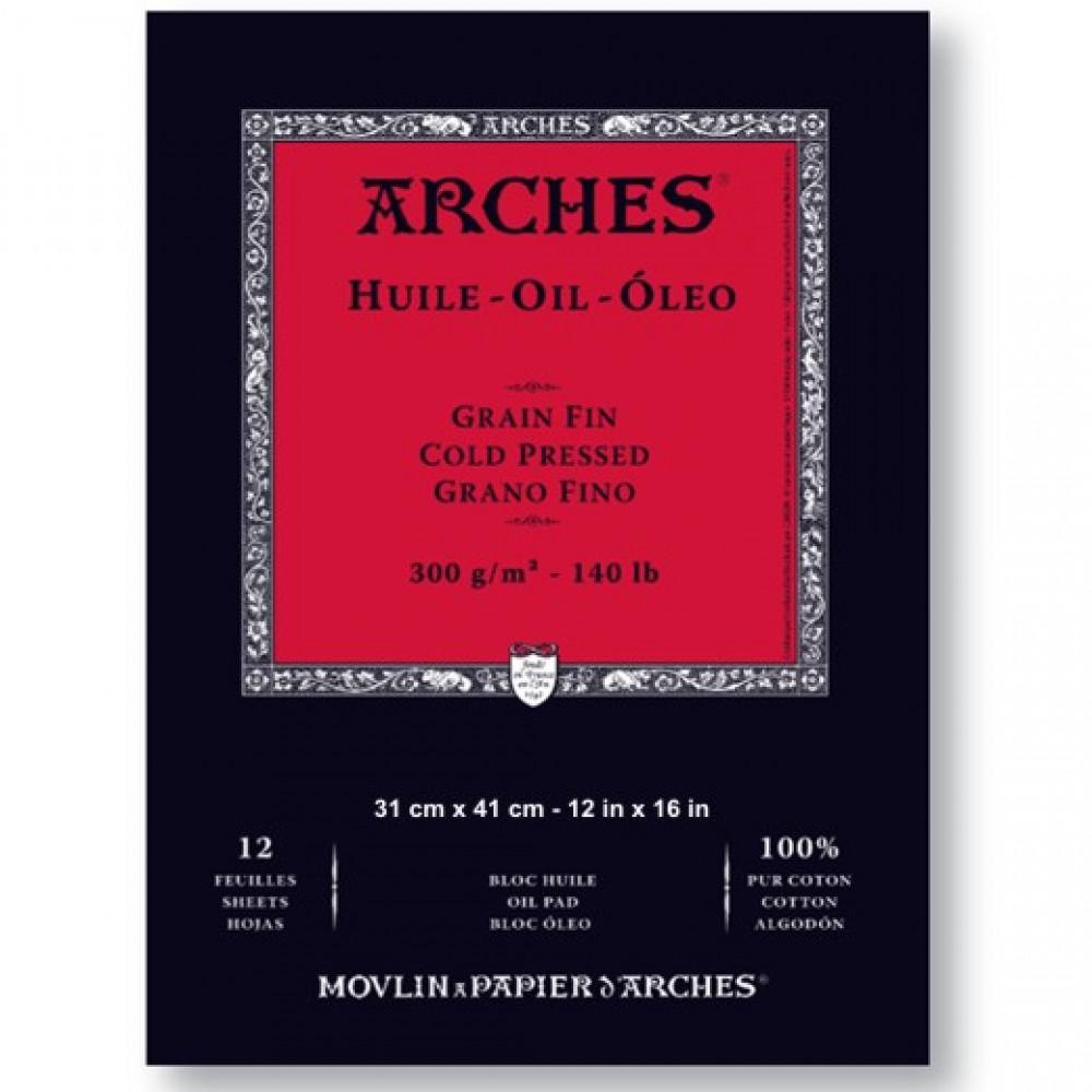 Bloco Papel Para Tinta Óleo Arches Canson 31X41cm