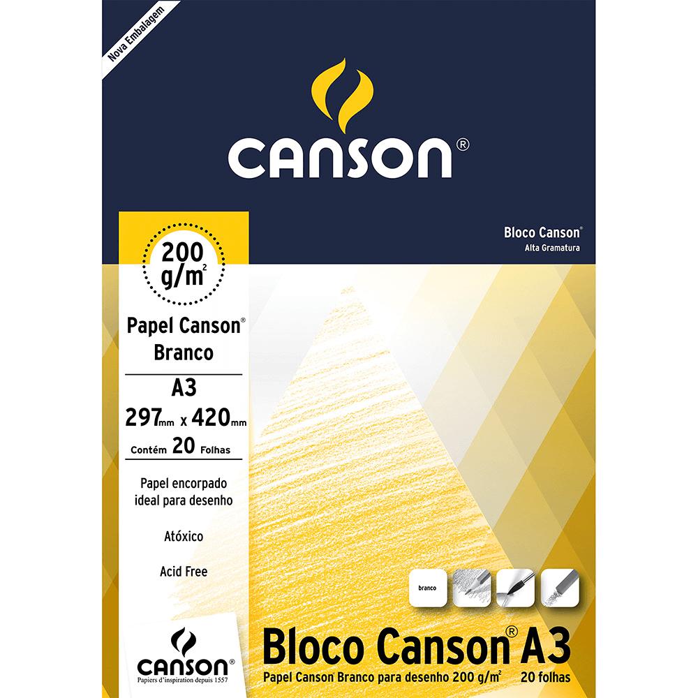Papel Para Desenho Canson 200g/m² A3 Branco