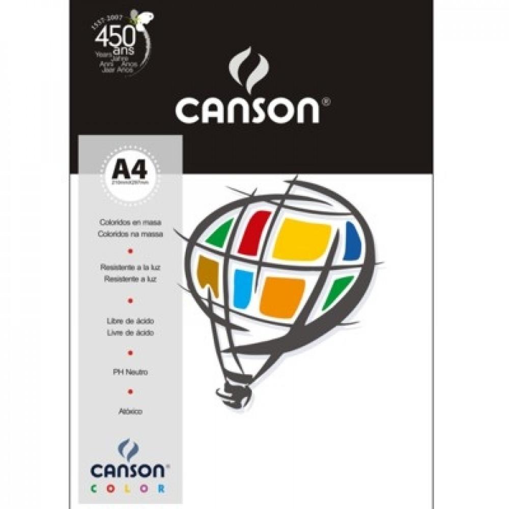 Papel Colorido Canson 120g/m² A4 01 Branco