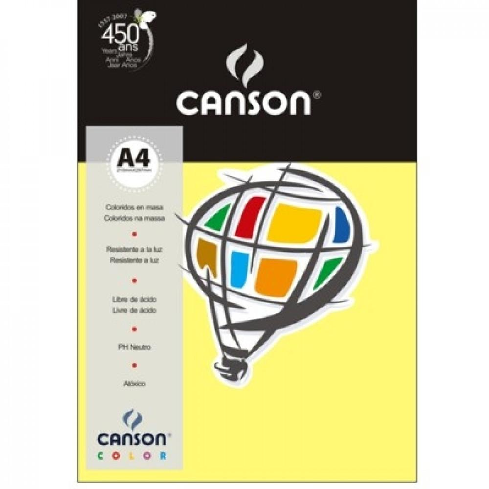 Papel Colorido Canson 120g/m² A4 03 Amarelo Canário