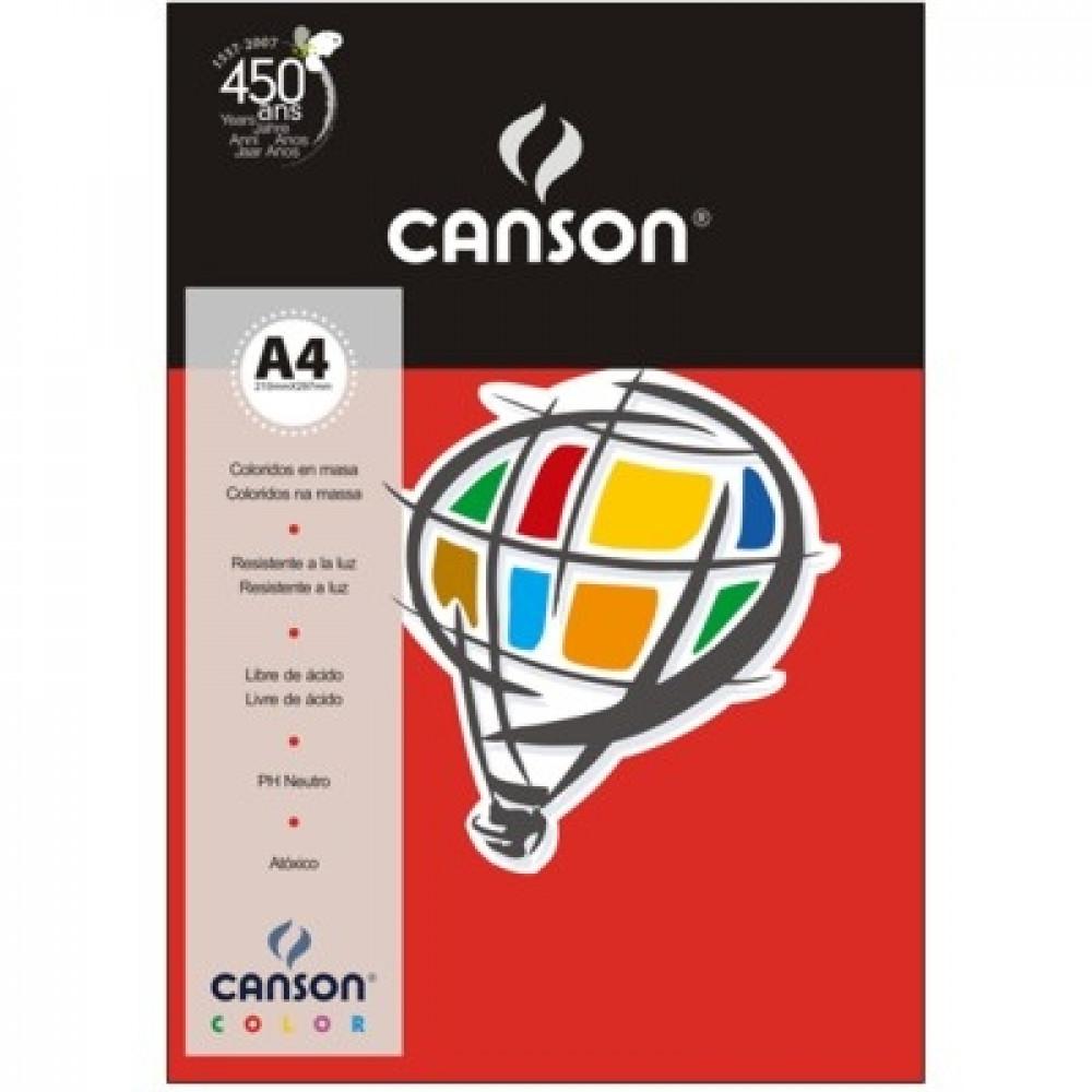 Papel Colorido Canson 120g/m² A4 08 Vermelho