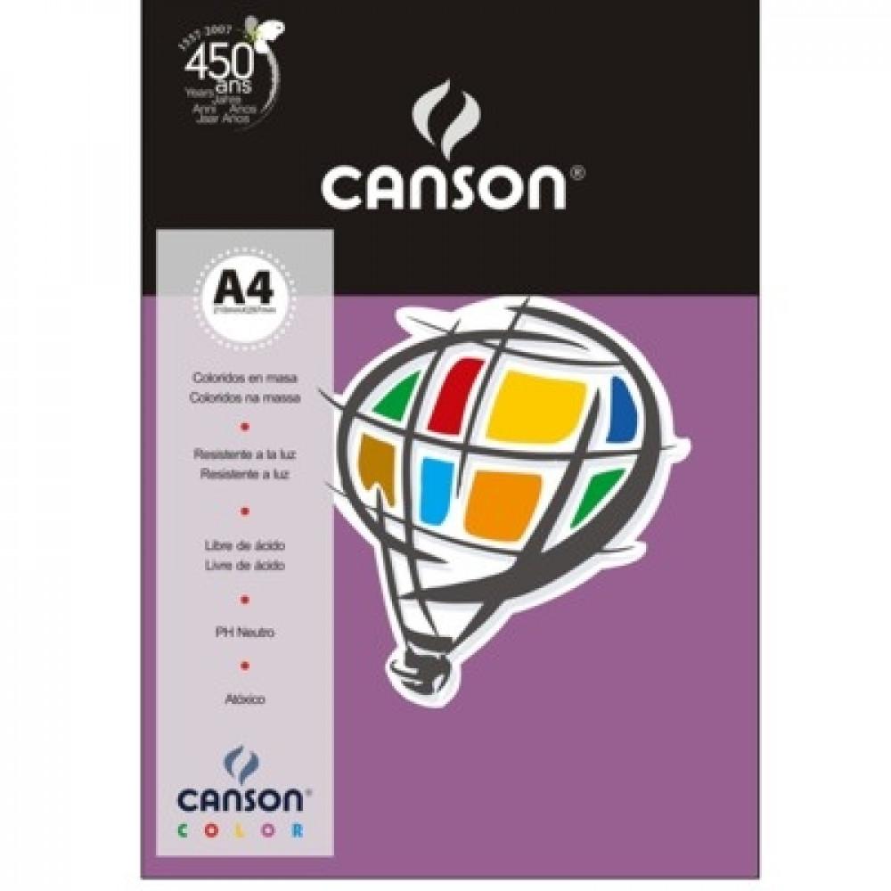 Papel Colorido Canson 120g/m² A4 13 Lilás