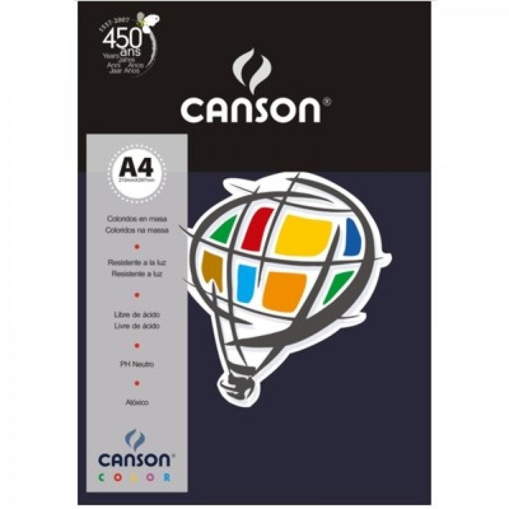 Papel Colorido Canson 120g/m² A4 17 Azul Marinho