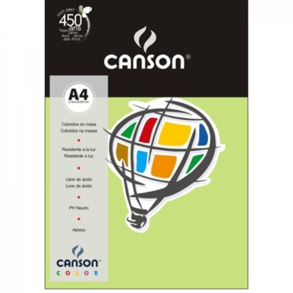 Papel Colorido Canson 120g/m² A4 19 Verde Claro