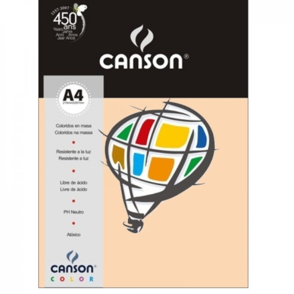 Papel Colorido Canson 120g/m² A4 21 Marfim