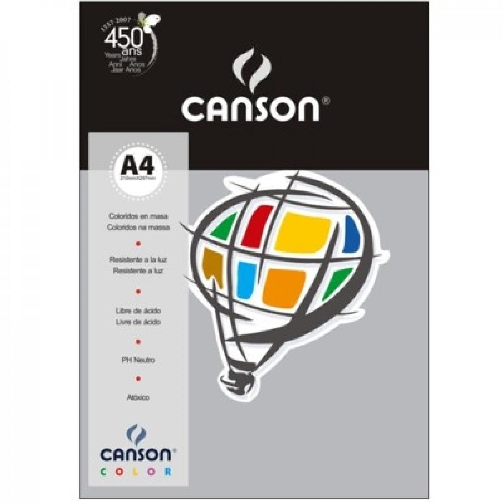 Papel Colorido Canson 120g/m² A4 25 Cinza