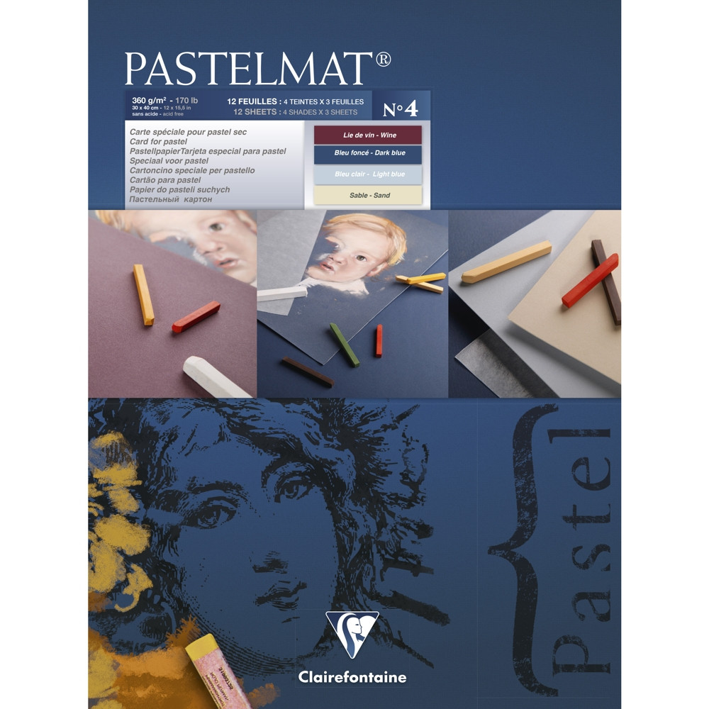 Papel Para Pastel Clairefontaine Pastelmat Nº4 30x40cm