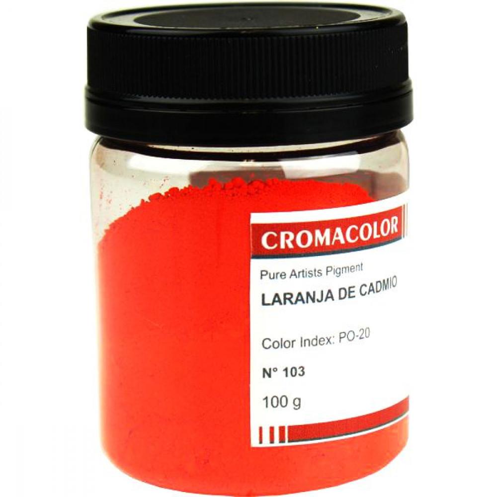 Pigmento Artístico Cromacolor 100g 103 Laranja Cadmio