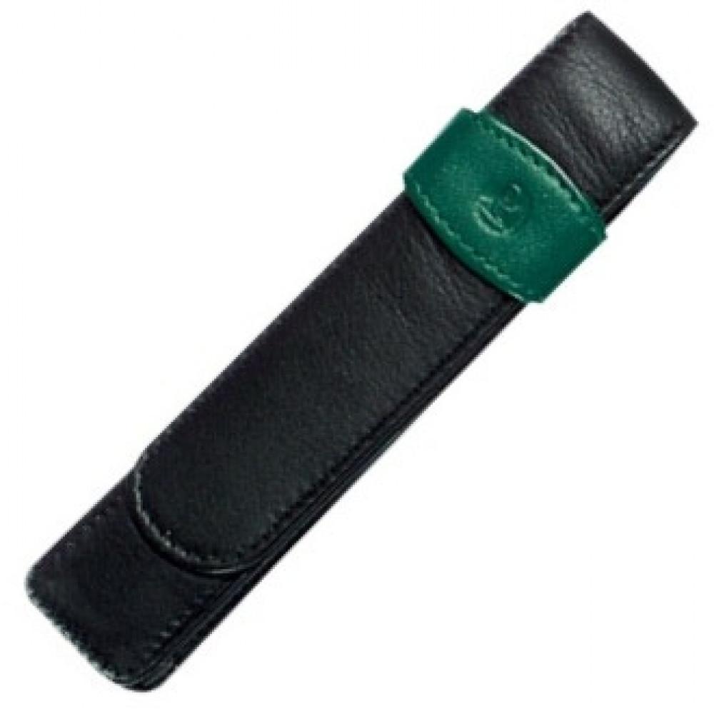 Porta Canetas Pelikan de Couro para 02 Caneta Verde